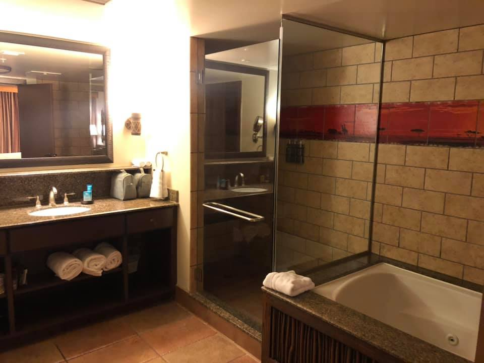 Master bathroom in One-Bedroom with whirlpool tub