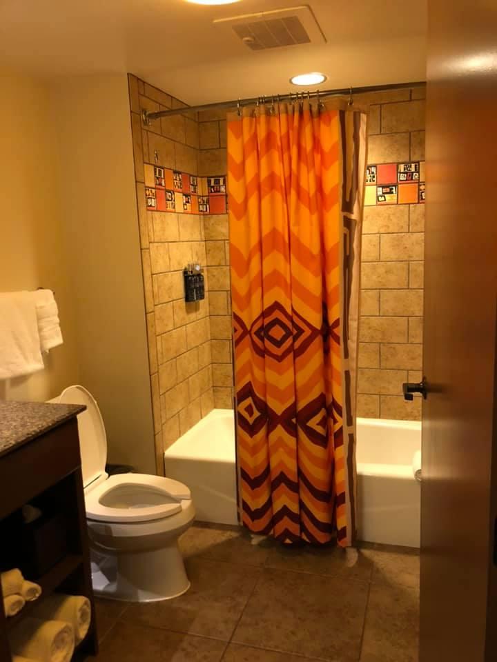 Second bathroom in One-Bedroom Villa
