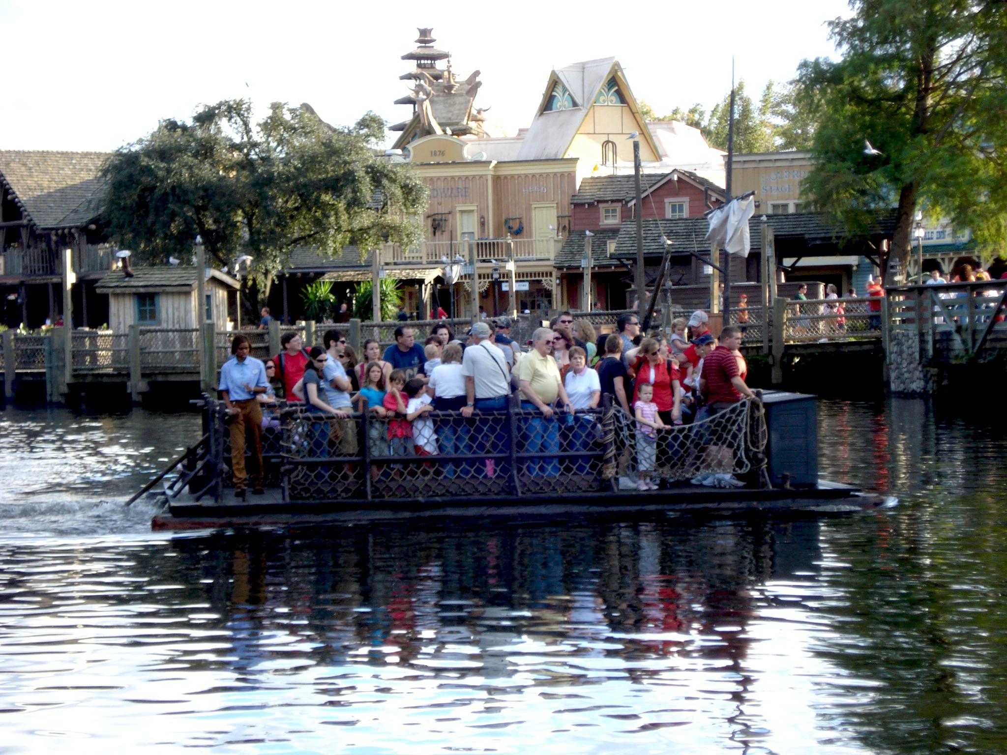 Raft to Tom Sawyer Island in Magic Kingdom at Disney World