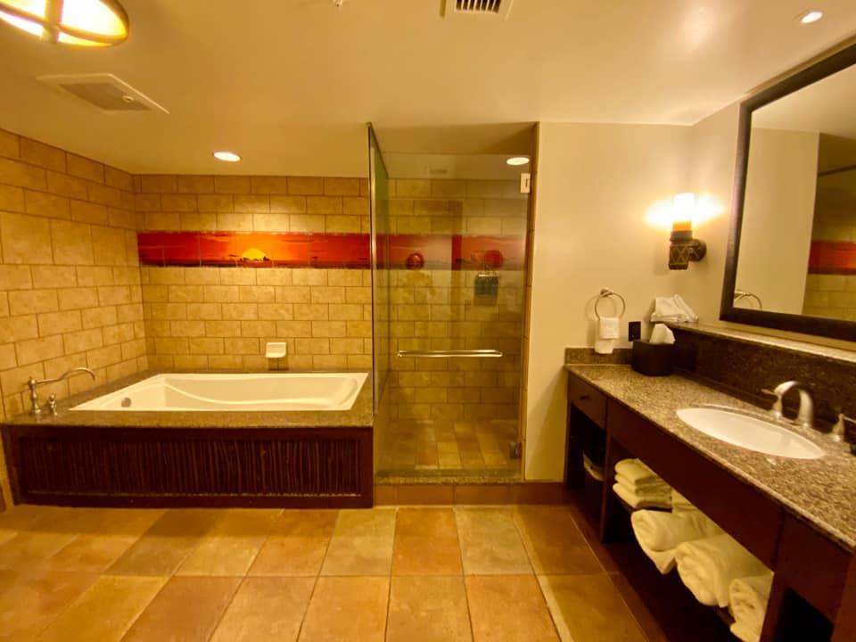 Master bathroom in Two-Bedroom Villa