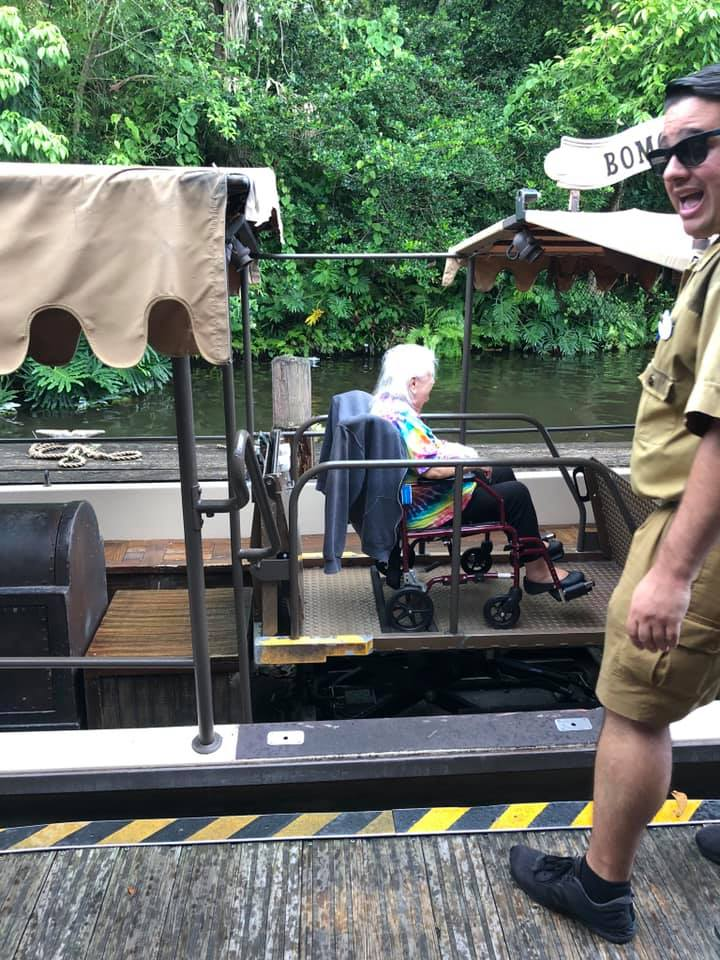 Jungle Cruise ride accessibility lift ramp