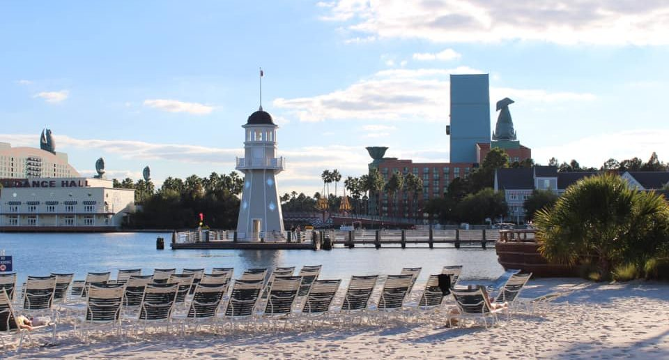 Disney's Beach Club & Yacht Club beach area