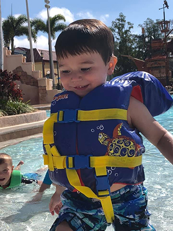 Life jackets are available at the Disney resort pools
