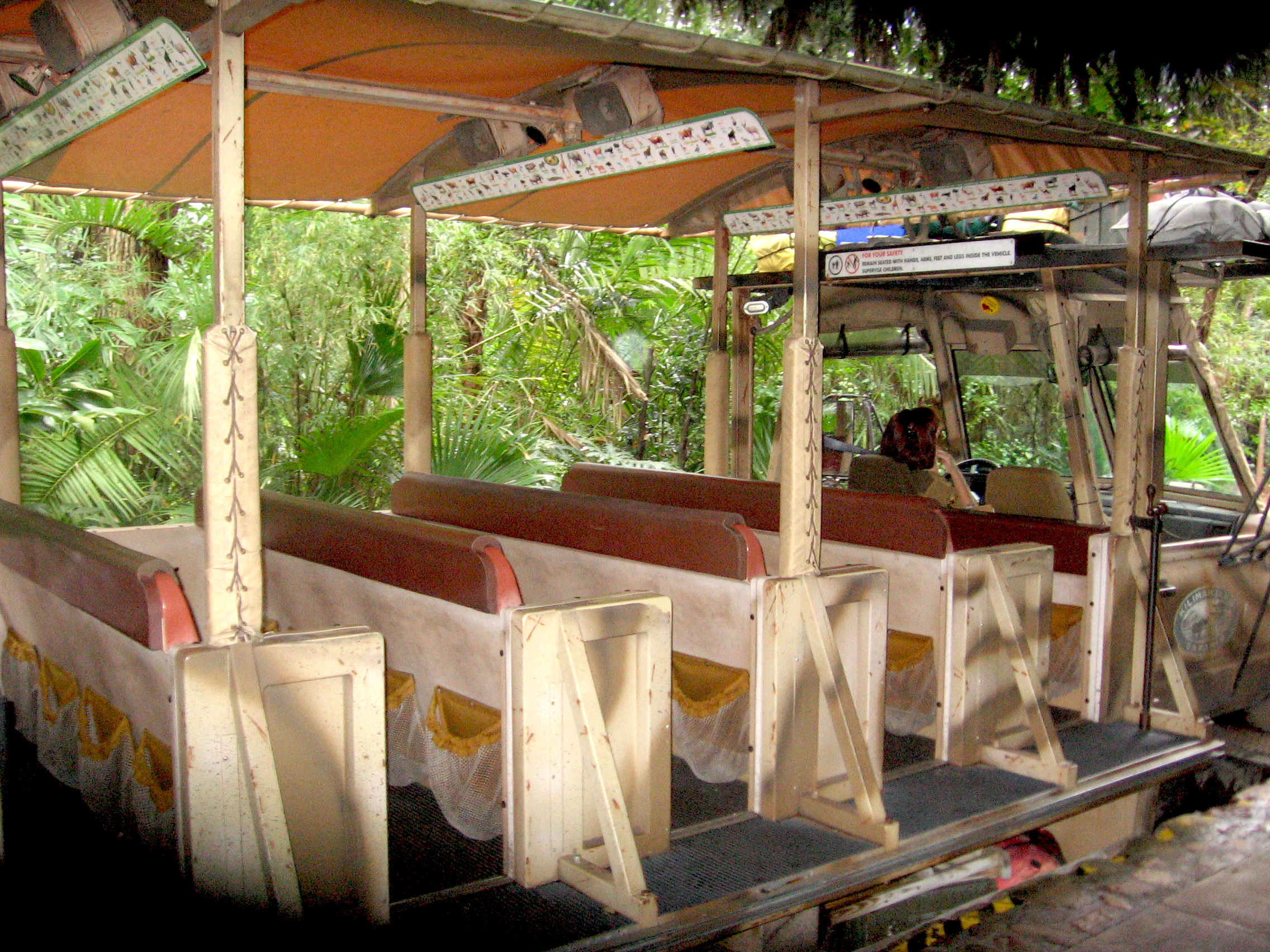 Kilimanjarol Safaris Animal Kingdom Disney World ride car