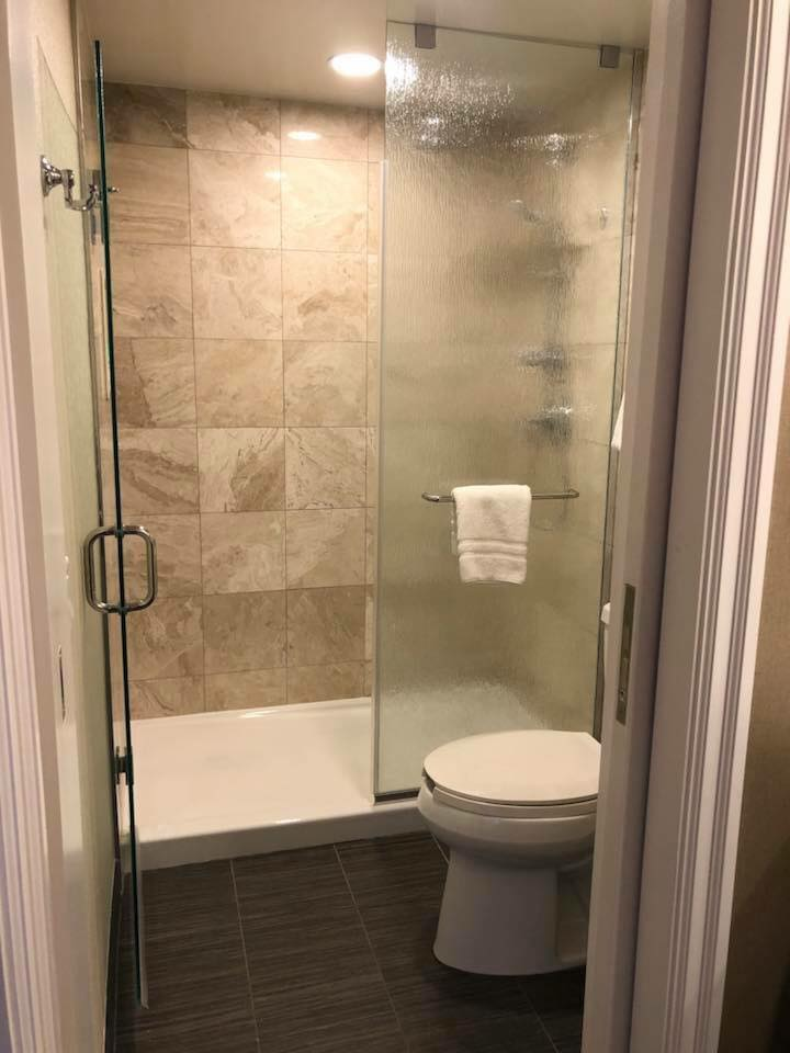 Yacht Club room shower and toilet