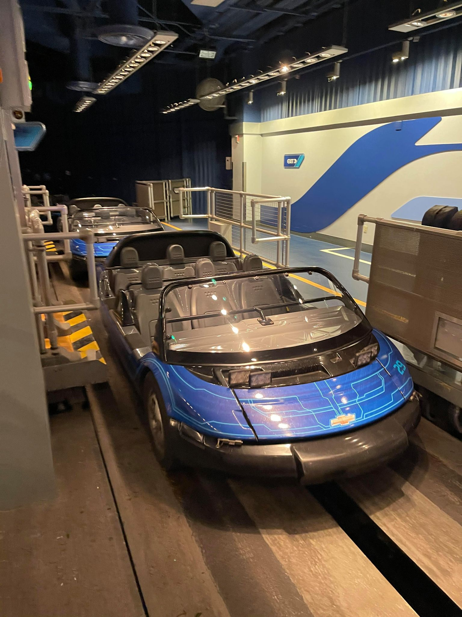 Test Track ride car at Epcot in Disney World