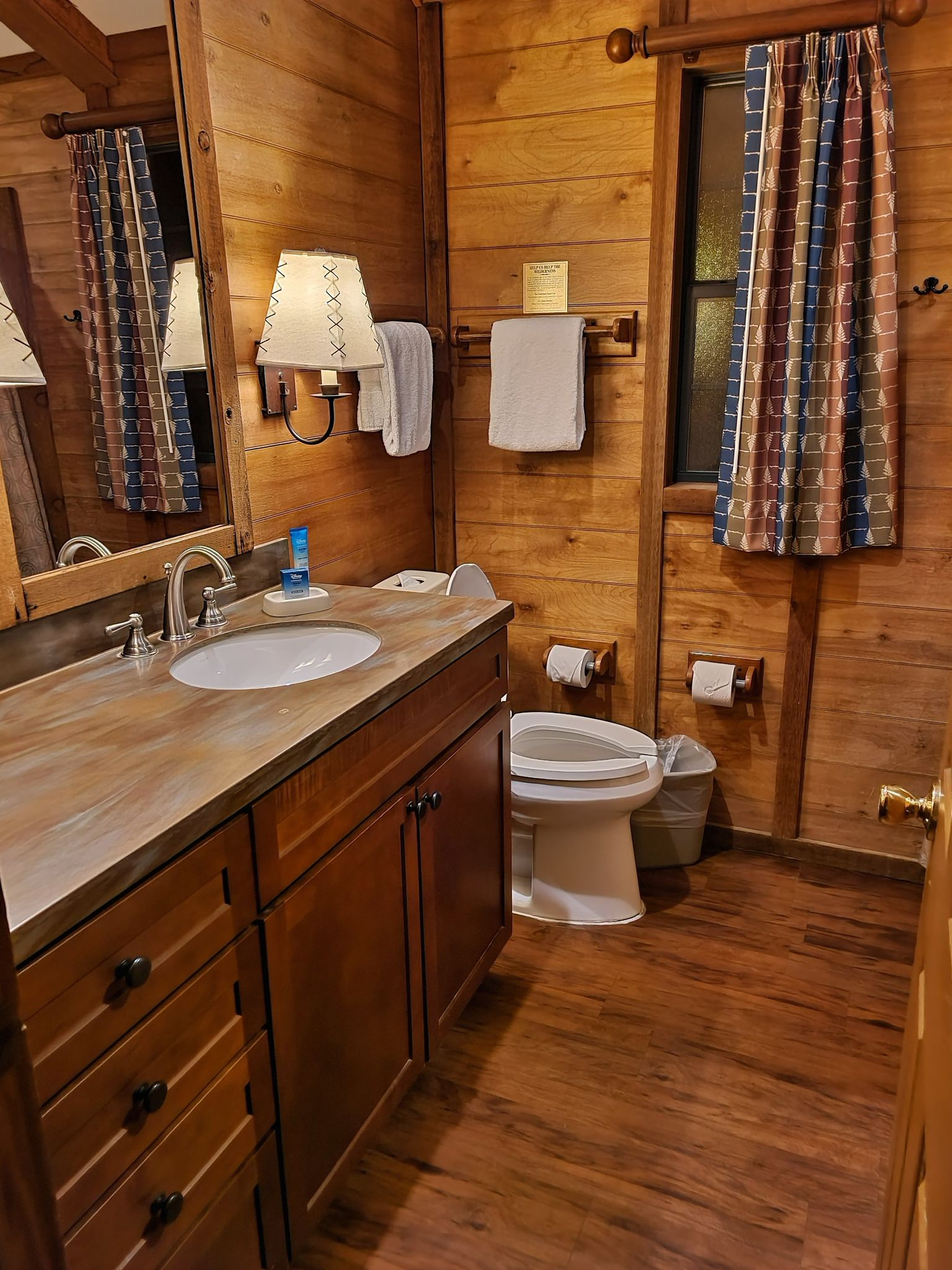 Bathroom in the Cabins at Fort Wilderness