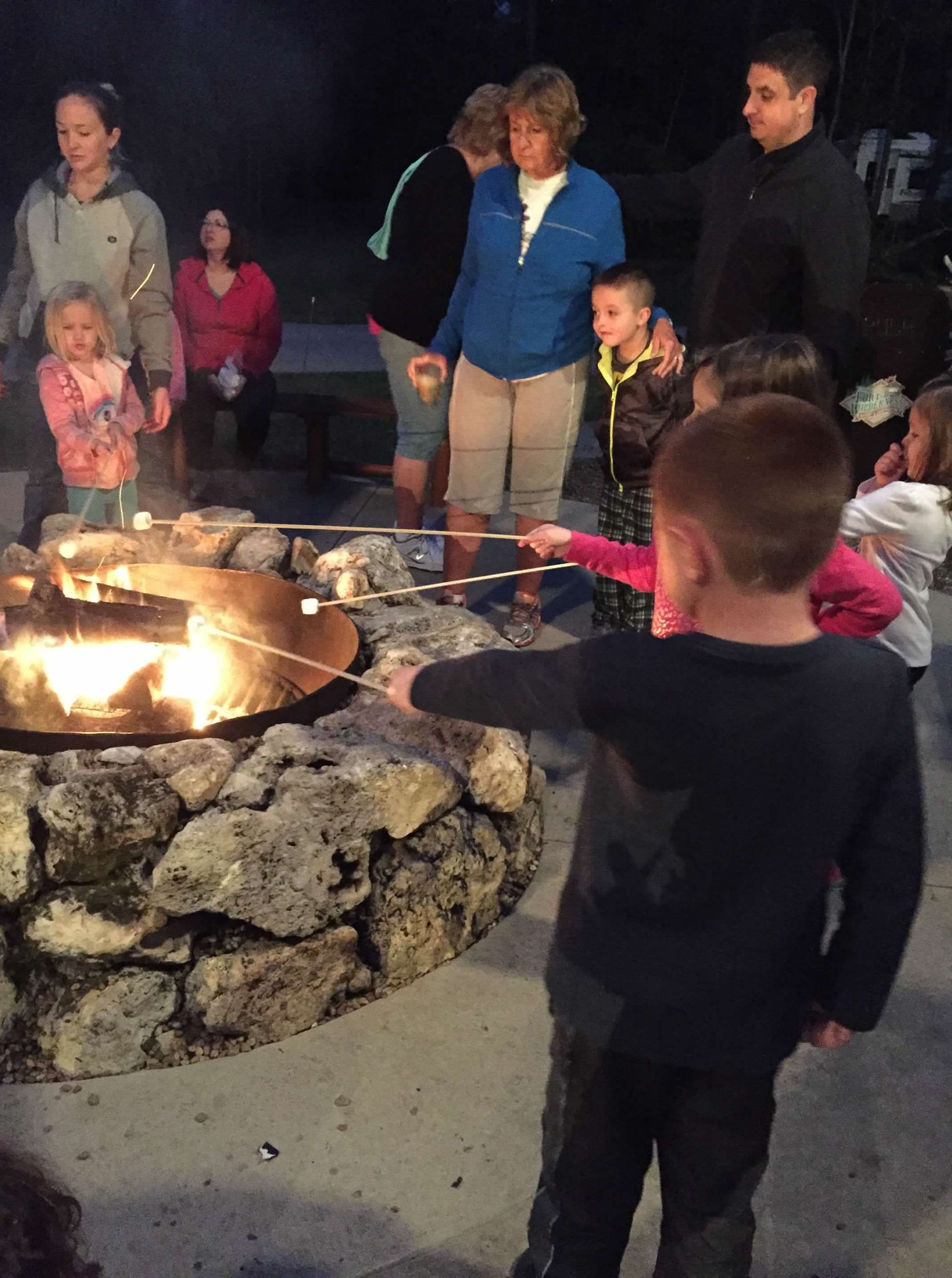 Fort Wilderness marshmallow fire pit