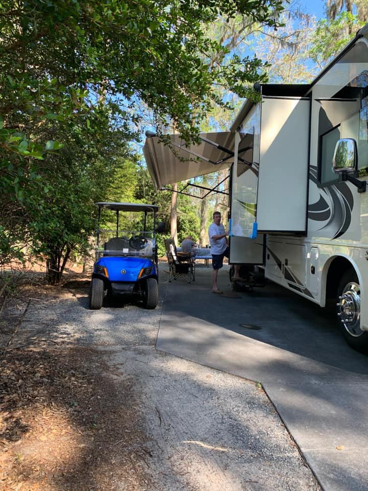 Golf carts for rent at Disney's Fort Wilderness