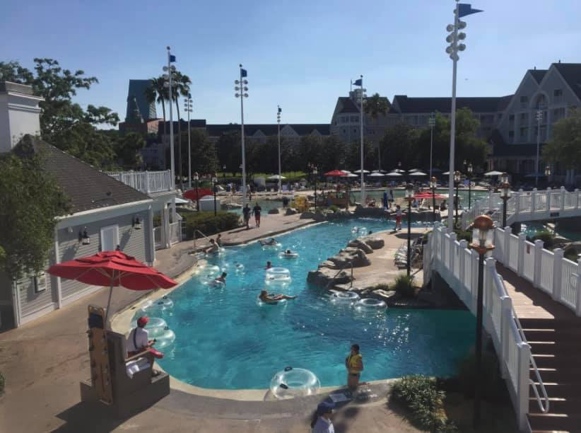 Lazy River at Disney's Yacht Club and Beach Club resorts