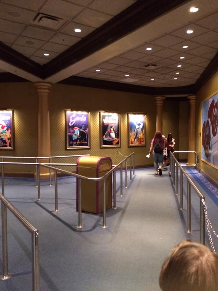 Mickey's Philharmagic waiting area queue