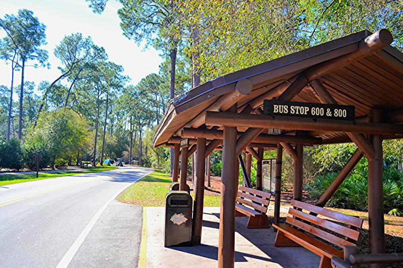 Bus Stop at Fort Wilderness