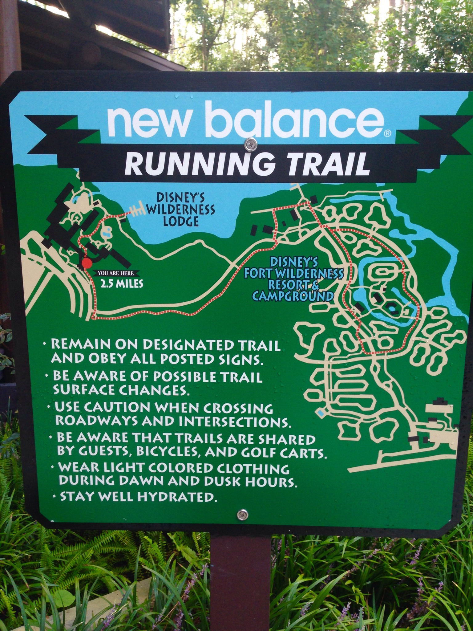 walkway Running Trail sign