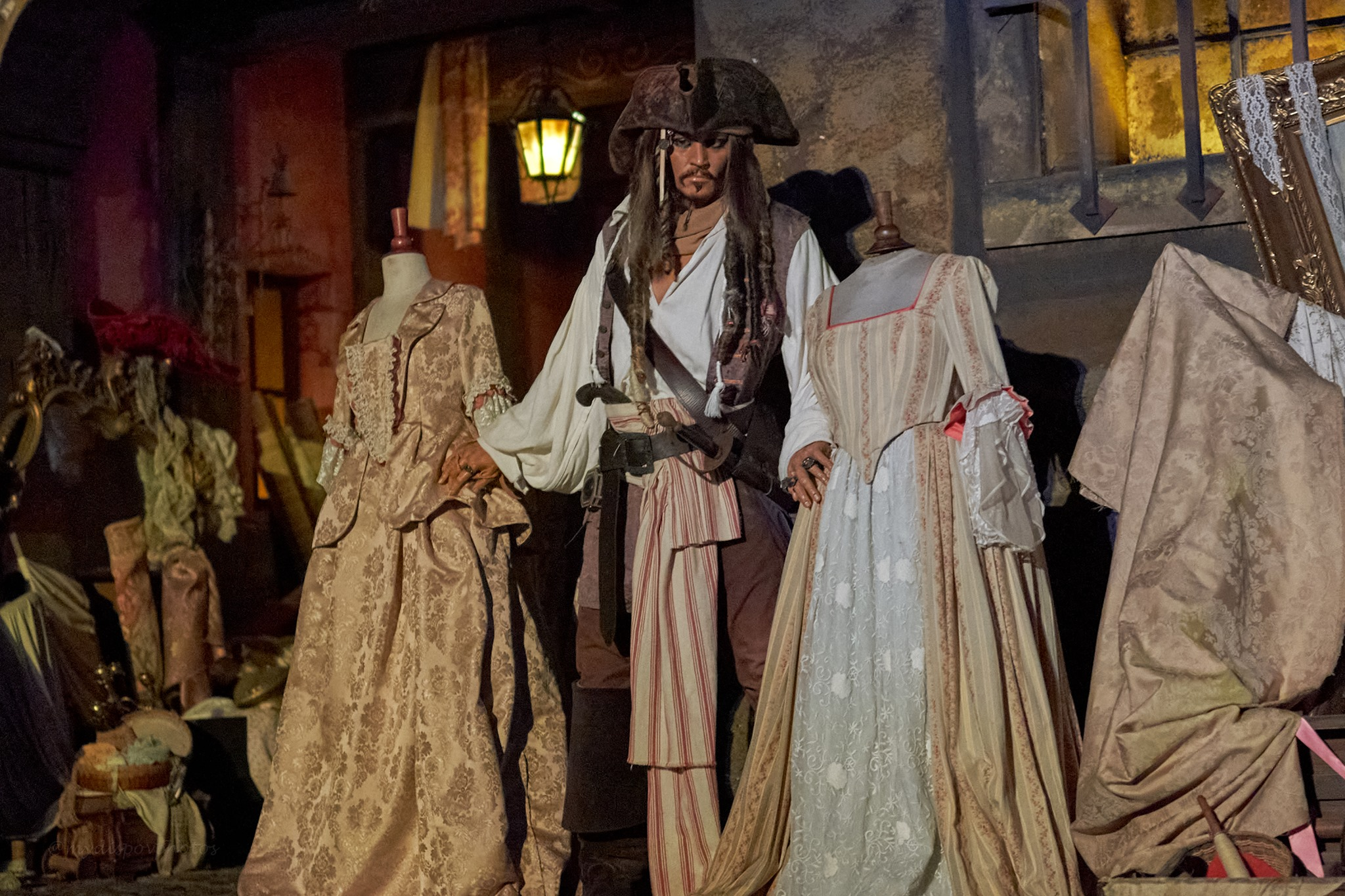 Captain Jack Sparrow in Disney's Pirates of the Caribbean