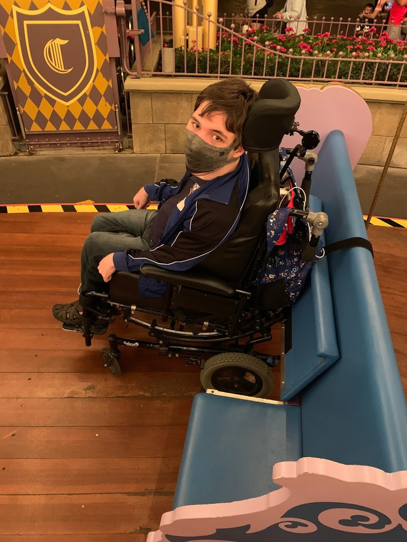 Prince Charming's Carousel accessible wheelchair seat photo by Vanessa Prince